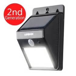outdoor sensor solar light lepower 174 bright led wireless solar powered motion sensor
