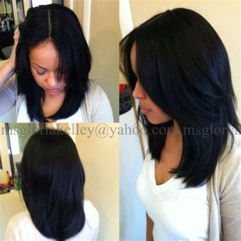 sow in hair natural looking sew in weave great cut weave sew ins hairstyles pinterest