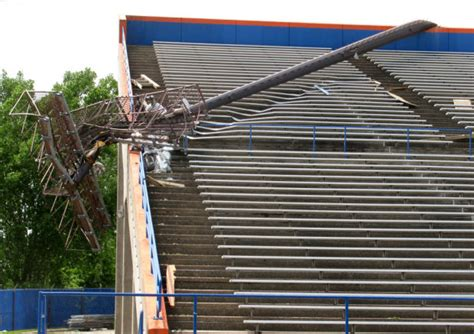 tornado room wi wiac sports tornado leaves a costly mess for uw platteville football program to clean up college