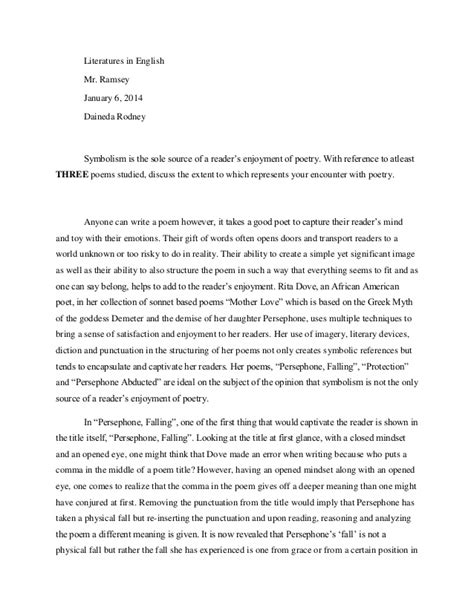 Symbolism In Poetry Essay by Symbolism In
