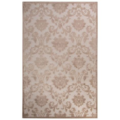 Contemporary Area Rugs 9x12 Jaipur Contemporary Damask Pattern Ivory Beige Rayon Chenille Area Rug 9x12