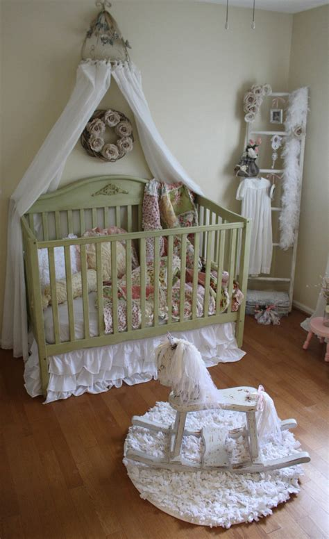 Vintage Inspired Shabby Chic Nursery Project Nursery Shabby Chic Nursery Curtains