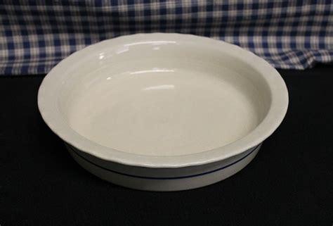 Stoneware Pie Pan, Pie Plate  Lead Free USA Made
