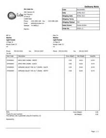 note templates delivery note template