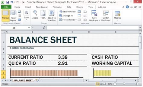 assets and liabilities template excel simple balance sheet template for excel 2013 with working