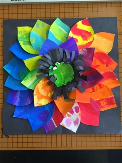 2nd grade craft ideas color it like you it painted paper flowers 2nd grade