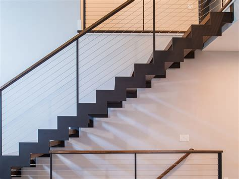 Zig Zag Stair zig zag stairs and cable railing teaneck nj keuka studios