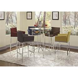 glass top bar height table coaster furniture 120335 modern bar height table with