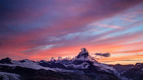 wallpaper mountains fog sunset hd widescreen high