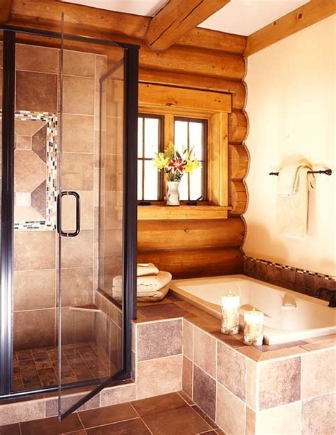 Log Cabin Bathroom by Log Cabin Mastersuite Bathroom Log Cabin Master Bedroom Suite Log Home Bathrooms