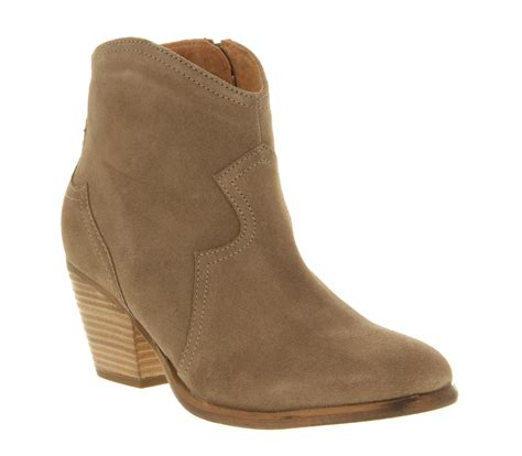 suede boots womens womens office untouchable taupe suede boots ebay