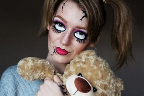 porcelain doll zoe scary doll make up a tutorial zoe newlove