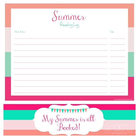 printable reading log bookmarks summer reading log bookmark printable what treasures await