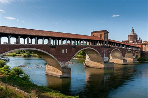 foto pavia ponte coperto di pavia