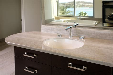 marble countertop for bathroom haisa light polished marble countertop modern bathroom los angeles by soli