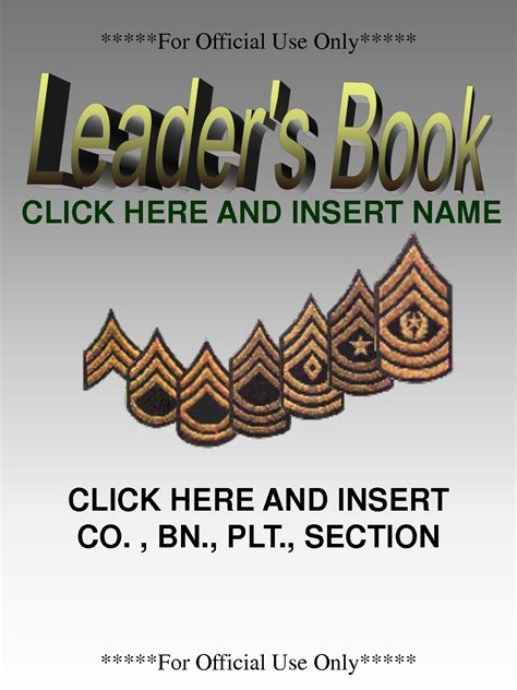 army leaders book template nco leadership quotes quotesgram