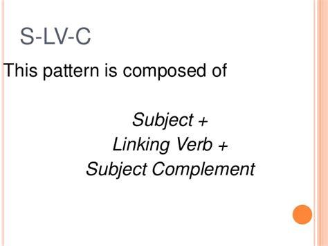 sentence pattern subject verb complement basic sentence patterns