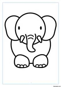 Out animal elephant coloring pages printable coloring pages for kids