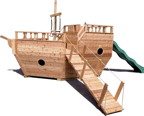 wooden boat swing set wooden playground equipment wooden play yard structures