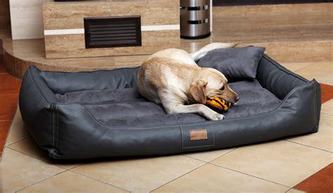 hunde bett hundebett maddox 150 cm kunstleder velours graphit