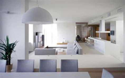 white interiors homes cocinas abiertas al living