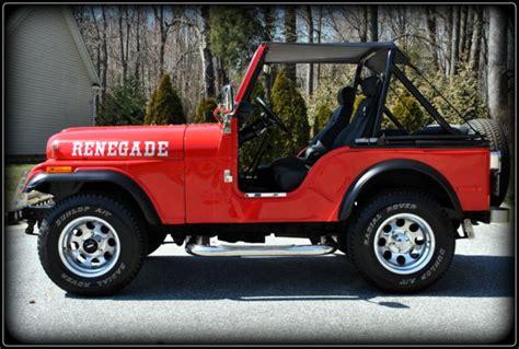 old jeep wrangler 1980 frame off restored 1980 jeep cj5 renegade excellent