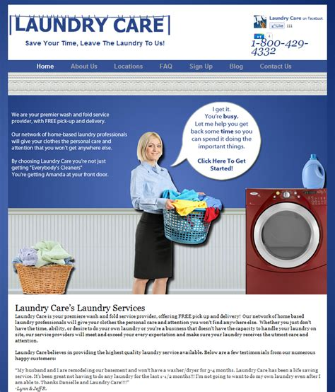 laundry web design laundry care website design marketing simple seo group
