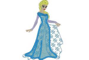 Frozen Elsa Machine Embroidery By Designsembroidery