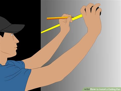 safely install  ceiling fan wikihow