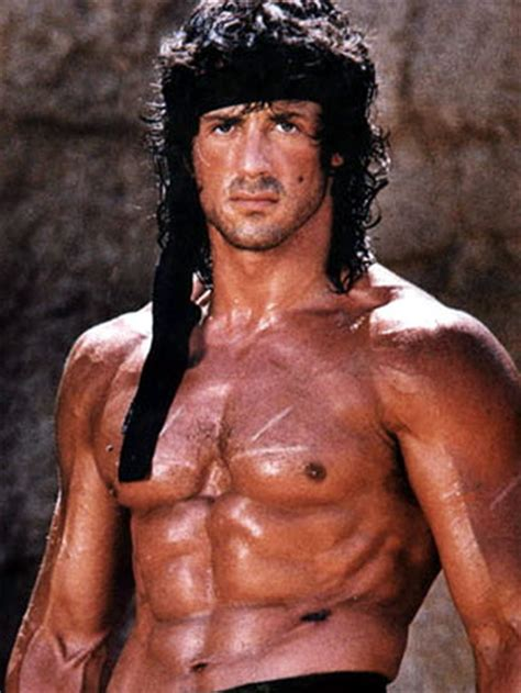 Sylvester Stallone In Rambo 4 by Lipton With Sylvester Stallone Comic Book And