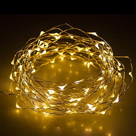 much 33ft 100 leds warm white starry lights flash lights