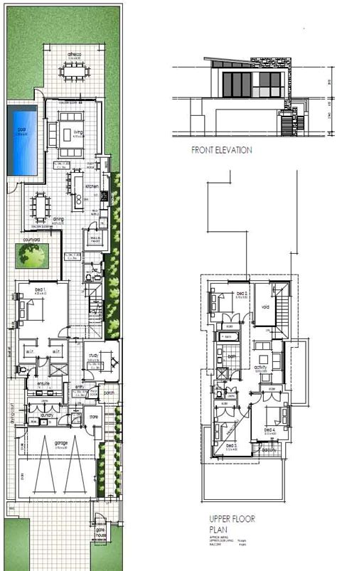 Narrow Block Floor Plans | narrow block house designs for perth wishlist homes