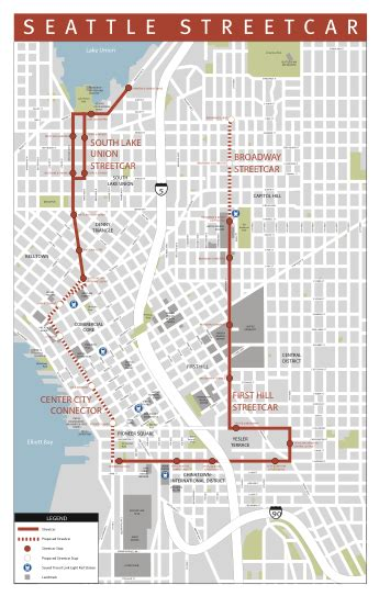 seattle map pioneer square hill streetcar service starts saturday