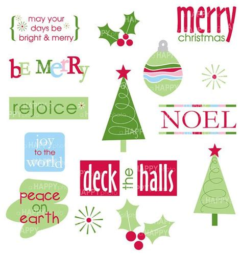 christmas titles and clip art png files holiday