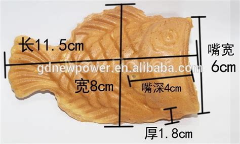 Taiyaki Open Fish Shape commercial 4 pieces taiyaki waffle maker fish shape with