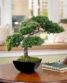 Small Desk Size Tree Artificial Cypress Silk Bonsai Tree At Petals