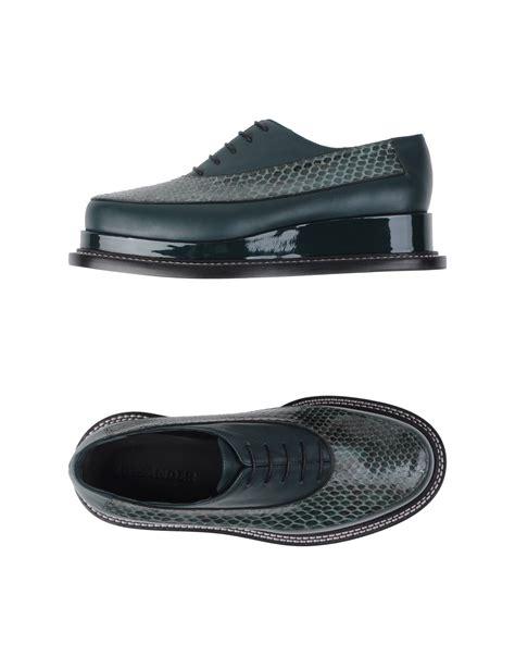 Jil Sander Shoe 2 by Jil Sander Lace Up Shoes In Green Lyst