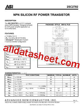 harga transistor sc 2782 2sc2782 データシート pdf advanced semiconductor