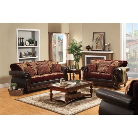 furniture of america lozano 2 sleeper sofa set in