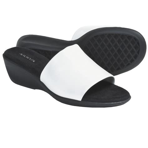 aerosoles badminton sandals aerosoles badminton slide sandals wedge heel for