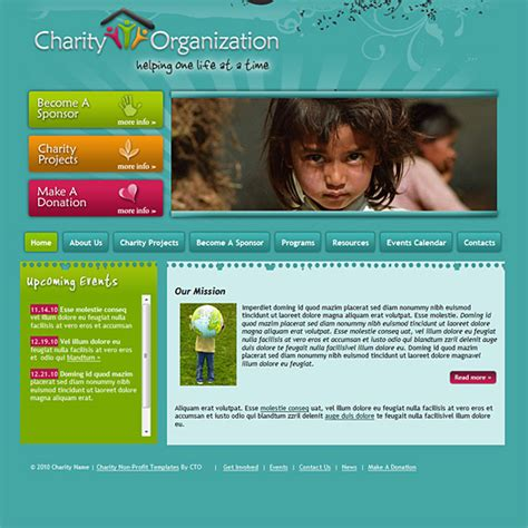 Charity Template Design 133 Charity Website Template Complete Site Charity Website Templates