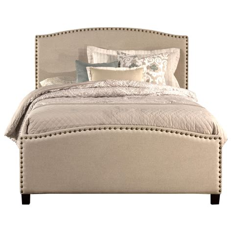 queen bed rail queen bed set with rails included and nail head trim by