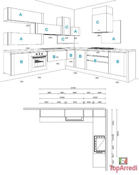 misure pensili cucina cucina in frassino laccato