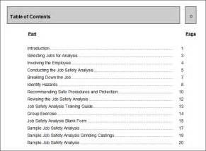 job safety analysis template 7 free word pdf documents