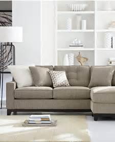 Macys Living Room Furniture Clarke Fabric Sectional Sofa Living Room Furniture Sets Pieces Furniture Macy S
