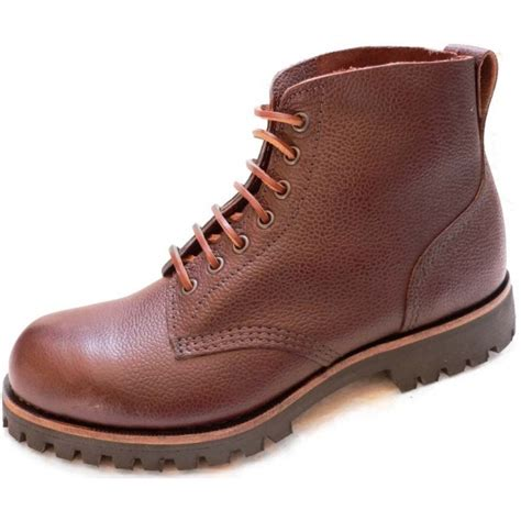 Reyl Acoustic 03 Safety Leather 107f brown zug grain field boot rufflander safety boots