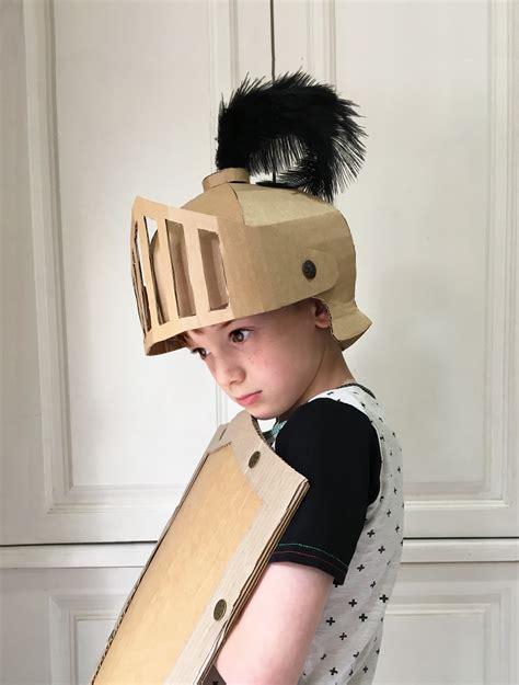 diy knights helmet costume diy cardboard costumes