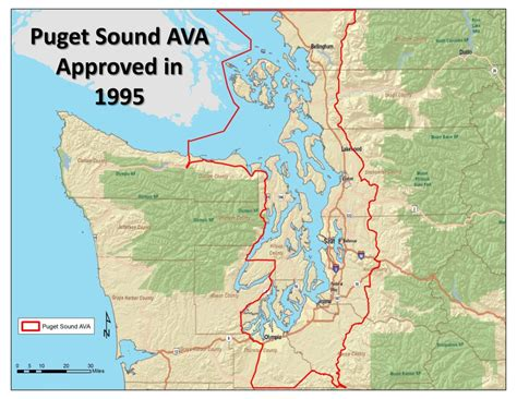 Map Of Puget Sound And by About Puget Sound Wine Growers