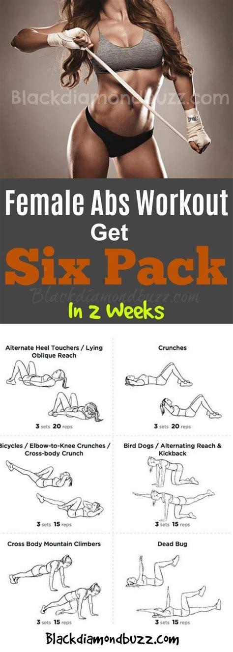female abs workout ideas  pinterest female