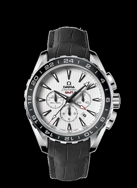 Omega Seamaster Gmt Leather Cronograph high quality replica omega seamaster aqua terra 150 m co axial gmt chronograph 44 mm leather